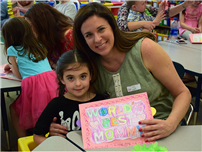 Kindergarten Students Celebrate Mom photo
